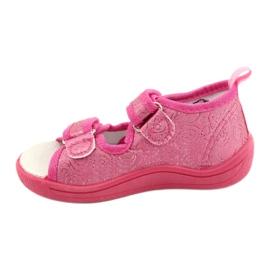 American Club Amerikaanse TEN38/20 sandalen pantoffels, fuchsia leren binnenzool roze 1