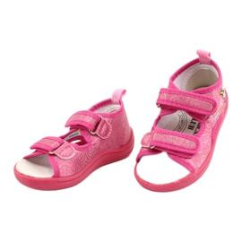 American Club Amerikaanse TEN38/20 sandalen pantoffels, fuchsia leren binnenzool roze 2