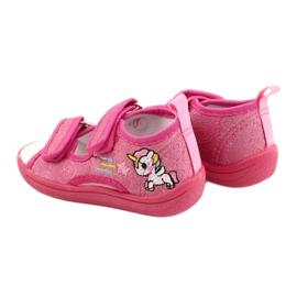 American Club Amerikaanse TEN38/20 sandalen pantoffels, fuchsia leren binnenzool roze 5