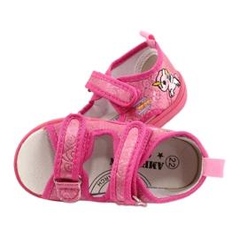 American Club Amerikaanse TEN38/20 sandalen pantoffels, fuchsia leren binnenzool roze 4