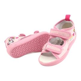 American Club Amerikaanse TEN38/20 sandalen pantoffels, leren inzet roze 3