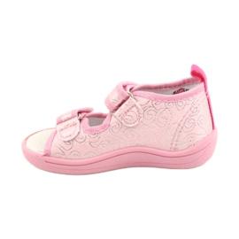 American Club Amerikaanse TEN38/20 sandalen pantoffels, leren inzet roze 1