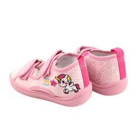 American Club Amerikaanse TEN38/20 sandalen pantoffels, leren inzet roze 5