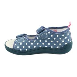 American Club Pantoffels, sandalen, Amerikaanse kinderschoenen, leren binnenzool wit blauw roze 1