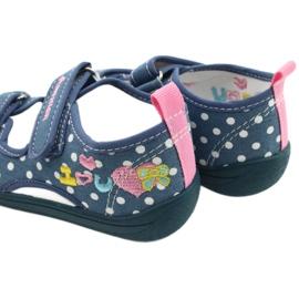 American Club Pantoffels, sandalen, Amerikaanse kinderschoenen, leren binnenzool wit blauw roze 5