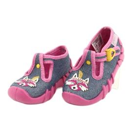 Befado kinderschoenen 110P395 roze grijs 3