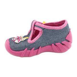 Befado kinderschoenen 110P395 roze grijs 2