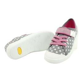 Befado kinderschoenen 251X159 roze grijs 4