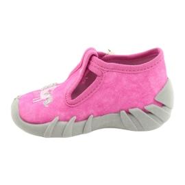 Befado kinderschoenen 110P397 roze zilver grijs 2