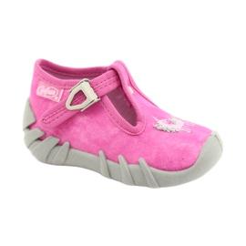 Befado kinderschoenen 110P397 roze zilver grijs 1