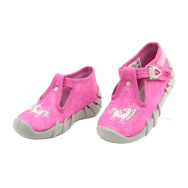 Befado kinderschoenen 110P397 roze zilver grijs 3