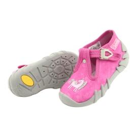 Befado kinderschoenen 110P397 roze zilver grijs 4