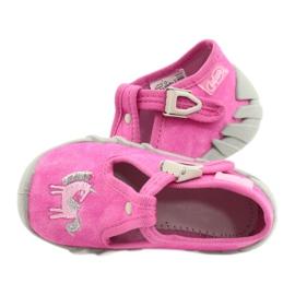 Befado kinderschoenen 110P397 roze zilver grijs 5