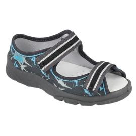 Befado kinderschoenen 869Y143 zwart blauw grijs 1