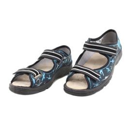 Befado kinderschoenen 869Y143 zwart blauw grijs 3