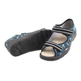 Befado kinderschoenen 869Y143 zwart blauw grijs 4