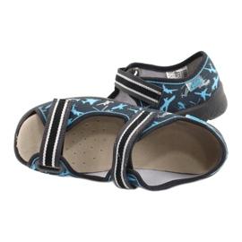 Befado kinderschoenen 869Y143 zwart blauw grijs 5