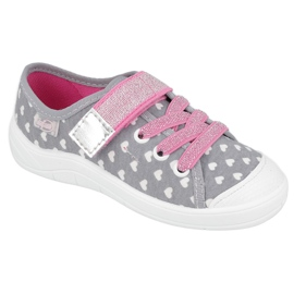 Befado kinderschoenen 251X159 wit roze zilver grijs 1