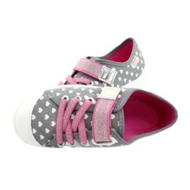 Befado kinderschoenen 251X159 wit roze zilver grijs 5