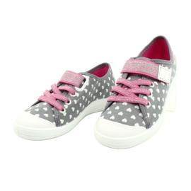 Befado kinderschoenen 251X159 wit roze zilver grijs 3