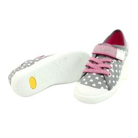 Befado kinderschoenen 251X159 wit roze zilver grijs 4