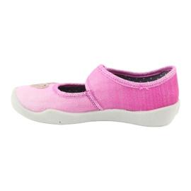 Befado kinderschoenen 123X038 roze zilver 2