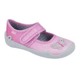 Befado kinderschoenen 123X038 roze zilver 1
