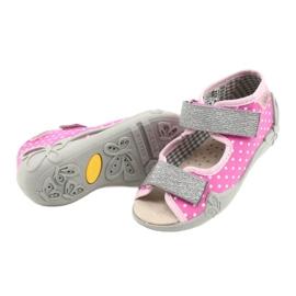 Befado gele kinderschoenen 342P024 roze grijs 4
