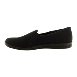Zwarte slip-on slippers Befado 001M060 2