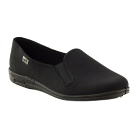 Zwarte slip-on slippers Befado 001M060 1