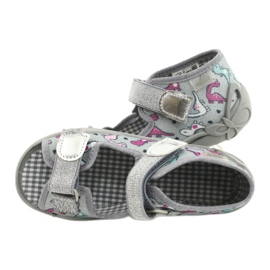 Befado kinderschoenen 242P105 roze zilver 5