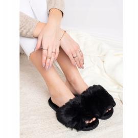 Bona Stijlvolle zwarte pantoffels 3