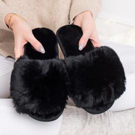 Bona Stijlvolle zwarte pantoffels 4