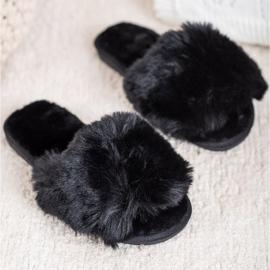 Bona Stijlvolle zwarte pantoffels 1