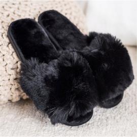 Bona Stijlvolle zwarte pantoffels 2