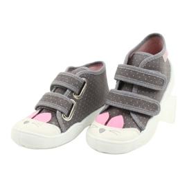 Befado kinderschoenen 212P059 roze grijs 3