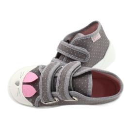 Befado kinderschoenen 212P059 roze grijs 4