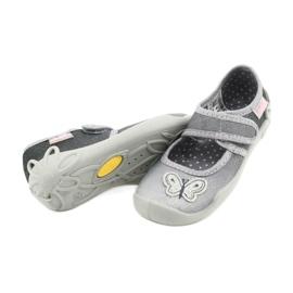 Befado kinderschoenen 123X034 zilver grijs 4