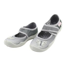 Befado kinderschoenen 123X034 zilver grijs 3
