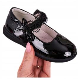 Apawwa Ballerina's voor kinderen met klittenband met kant Zwart Evelyn 4