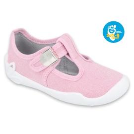 Befado kinderschoenen blanka roze 115X002 zilver 1