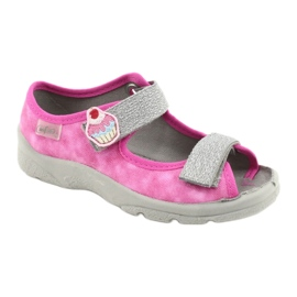 Befado kinderschoenen 969X163 roze zilver 1