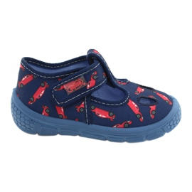 Befado kinderschoenen 533P012 rood marineblauw blauw 1