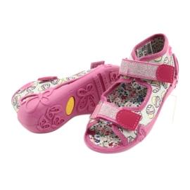 Befado kinderschoenen 242P099 roze grijs veelkleurig 4