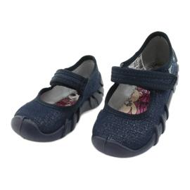 Befado speedy marineblauwe kinderschoenen 109P226 zilver 3