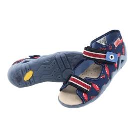 Befado gele kinderschoenen 350P018 rood marineblauw 4