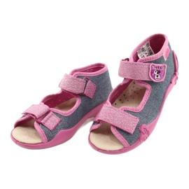 Befado gele kinderschoenen 342P017 roze grijs 3