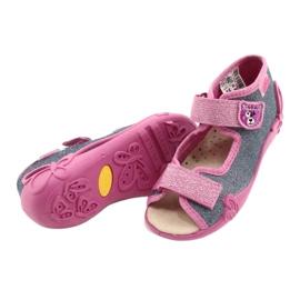 Befado gele kinderschoenen 342P017 roze grijs 4