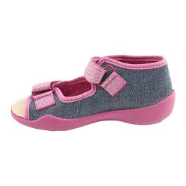 Befado gele kinderschoenen 342P017 roze grijs 2