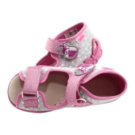 Befado gele kinderschoenen 342P018 roze grijs 5